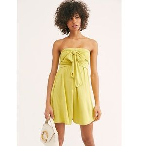 Free People Lime Green Redondo Romper Size XL